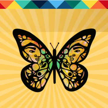 migration is beautiful logo based on Faviana Rodriguez's monarch butterfly
